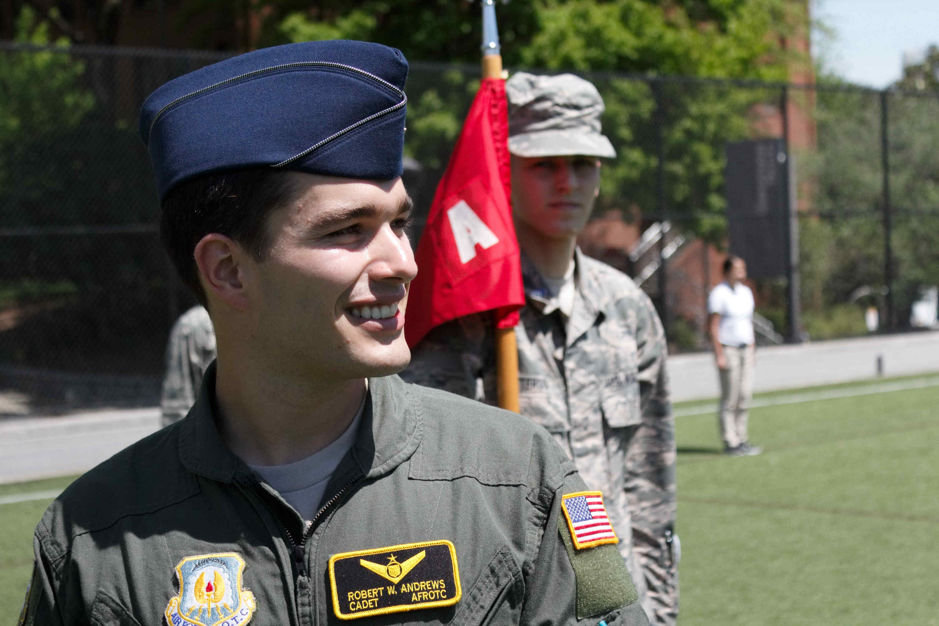 Cadet in flight suit